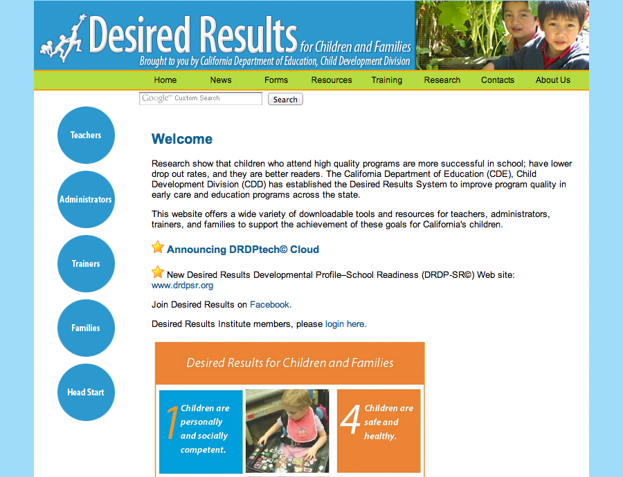 screenshot of https://www.desiredresults.us/