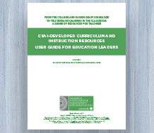 cover for CSAI-Developed Curriculum and Instruction Resources: User Guide for Education Leaders