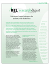 Cover for REL Research Digest: November 2015