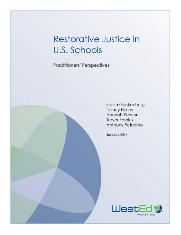 Cover Restorative Justice in U.S. Schools: Practitioners' Perspectives