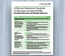 Cover for California Professional Standards for Education Leaders