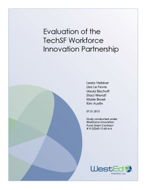 Cover for Evaluation of the TechSF Workforce Innovation Partnership