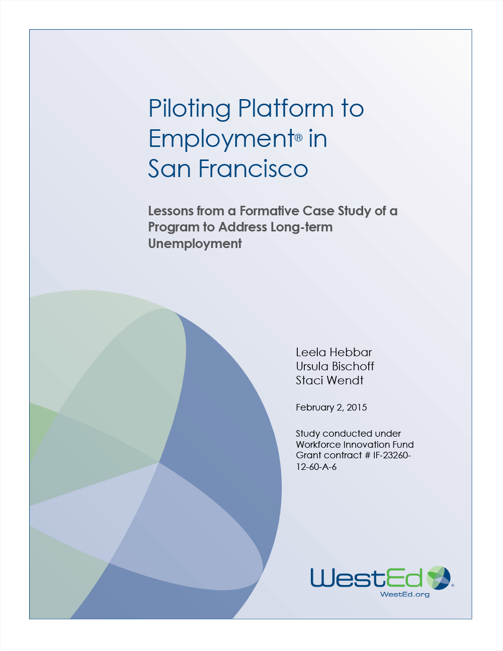 Cover for Piloting Platform to Employment in San Francisco: Lessons from a Formative Case Study of a Program to Address Long-term Unemployment