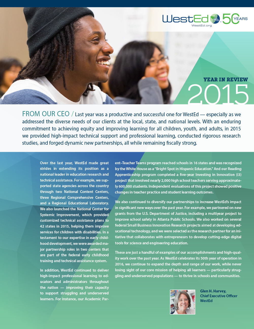 Cover WestEd 2015 Year in Review