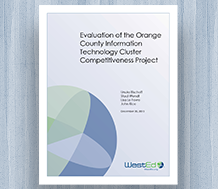 Cover Evaluation of the Orange County Information Technology Cluster Competitiveness Project