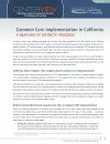 Cover for Common Core Implementation in California: A Snapshot of Districts' Progress