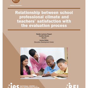 Cover Relationship between school professional climate and teachers' satisfaction with the evaluation process