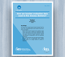 Cover How Are Teacher Evaluation Data Used in Five Arizona Districts?