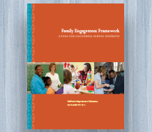 Cover image for News item cover for the English-language edition of the Family Engagement Framework (English)