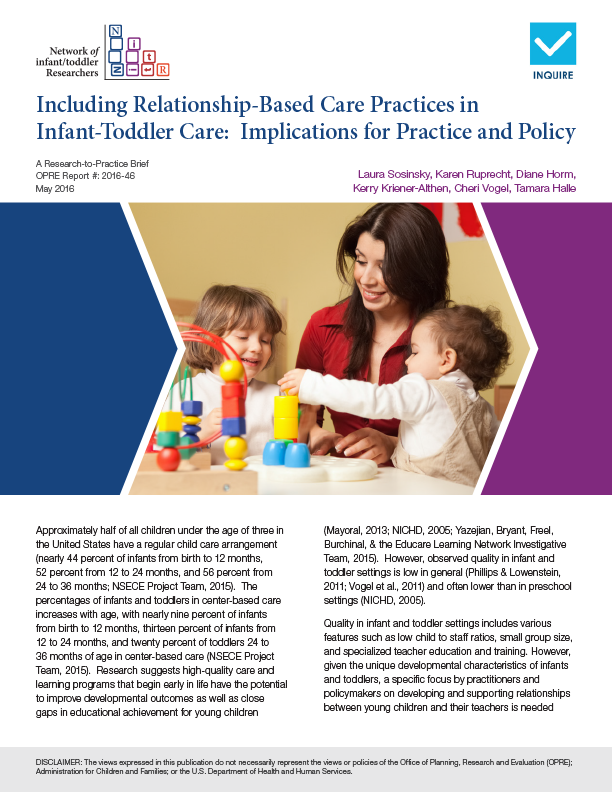 Early Childhood Development Learning Wested