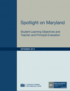 Cover for Spotlight on Maryland: SLOs and Teacher and Principal Evaluation