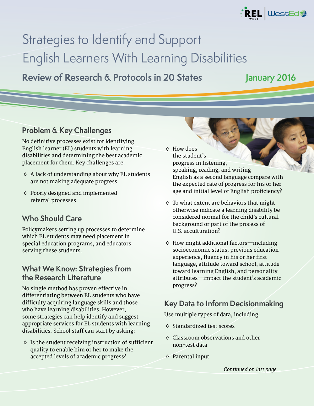 For Students With Disabilities Quality >> A Focus On English Learners Who May Have Learning Disabilities