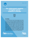 Cover for The Achievement Progress of English Learner Students in Nevada
