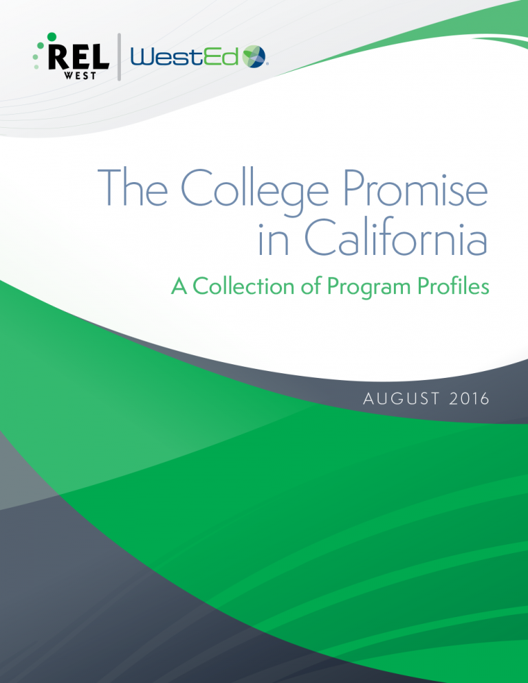 Cover for The College Promise in California: A Collection of Program Profiles