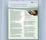 Cover for The Achievement Progress of English Learner Students