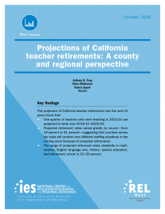Cover California Teacher Retirements: A County and Regional Perspective