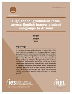 High School Graduation Rates Across English Learner Student Subgroups in Arizona