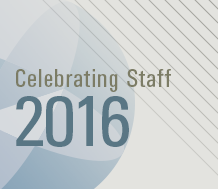 Celebrating Staff 2016 Staff Awards