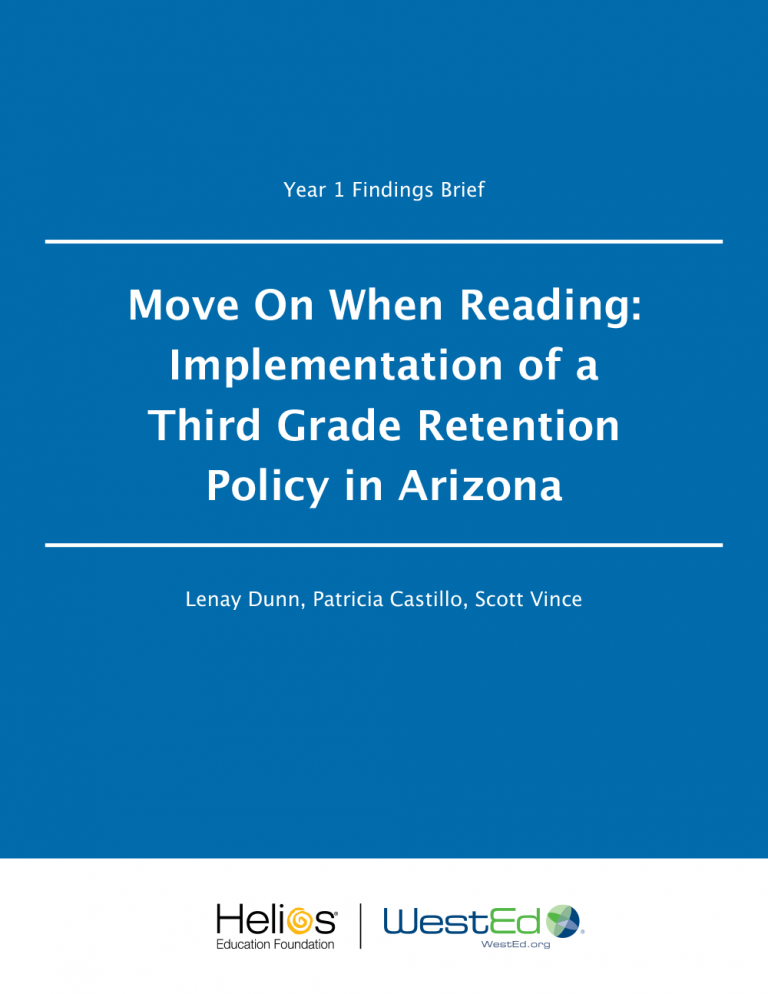 Cover for Move On When Reading: Implementation of a Third Grade Retention Policy in Arizona