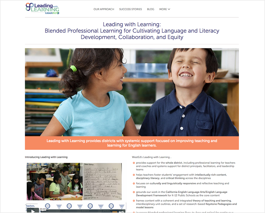 screenshot of https://leadingwithlearning.wested.org/