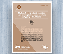 Cover High School Graduation Rates Across English Learner Student Subgroups in Arizona
