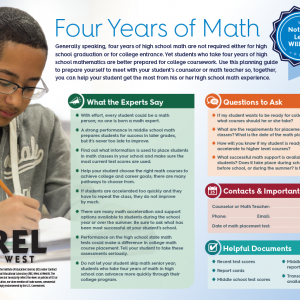 Math Course Pathway Guide for Parents and Students