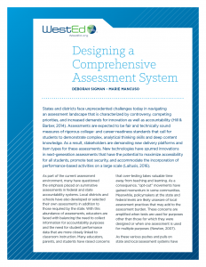 Designing a Comprehensive Assessment System