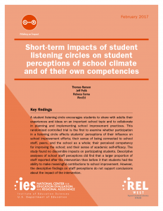 Short-term impacts of student listening circles on student perceptions of school climate and of their own competencies