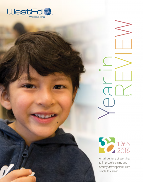 Cover for WestEd 2016 Year in Review