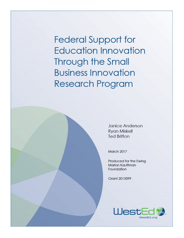 Federal Support for Education Innovation Through the Small Business Innovation Research Program