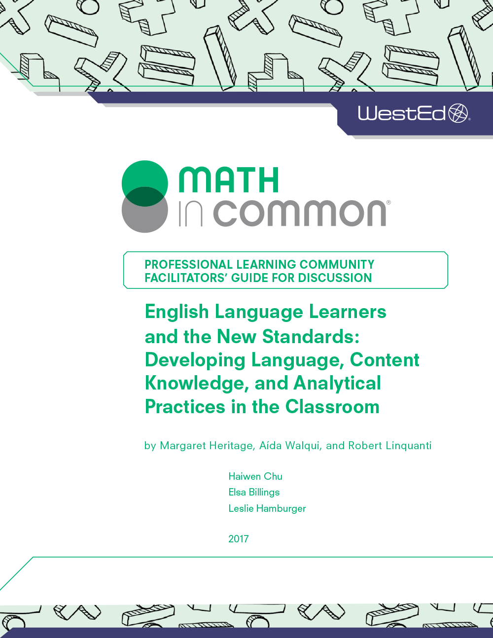 Analytical Learning facilitators' guide to english language learners and the new