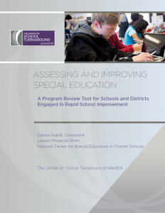 Assessing and Improving Special Education