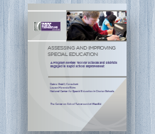 Cover for Assessing and Improving Special Education: A Program Review Tool for Schools and Districts Engaged in Rapid School Improvement