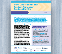 Using Data to Ensure That Teachers Are Learner Ready on Day One
