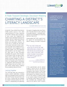 Charting A District's Literacy Landscape: A Path Toward Strategic Decision-Making