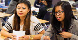 Two students engaging in activity