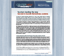 Cover for CenterView: Teachers Leading the Way – Teacher-to-Teacher Professional Learning
