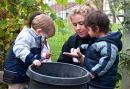 Young children with caregiver