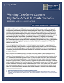 Working Together to Support Equitable Access to Charter Schools report cover