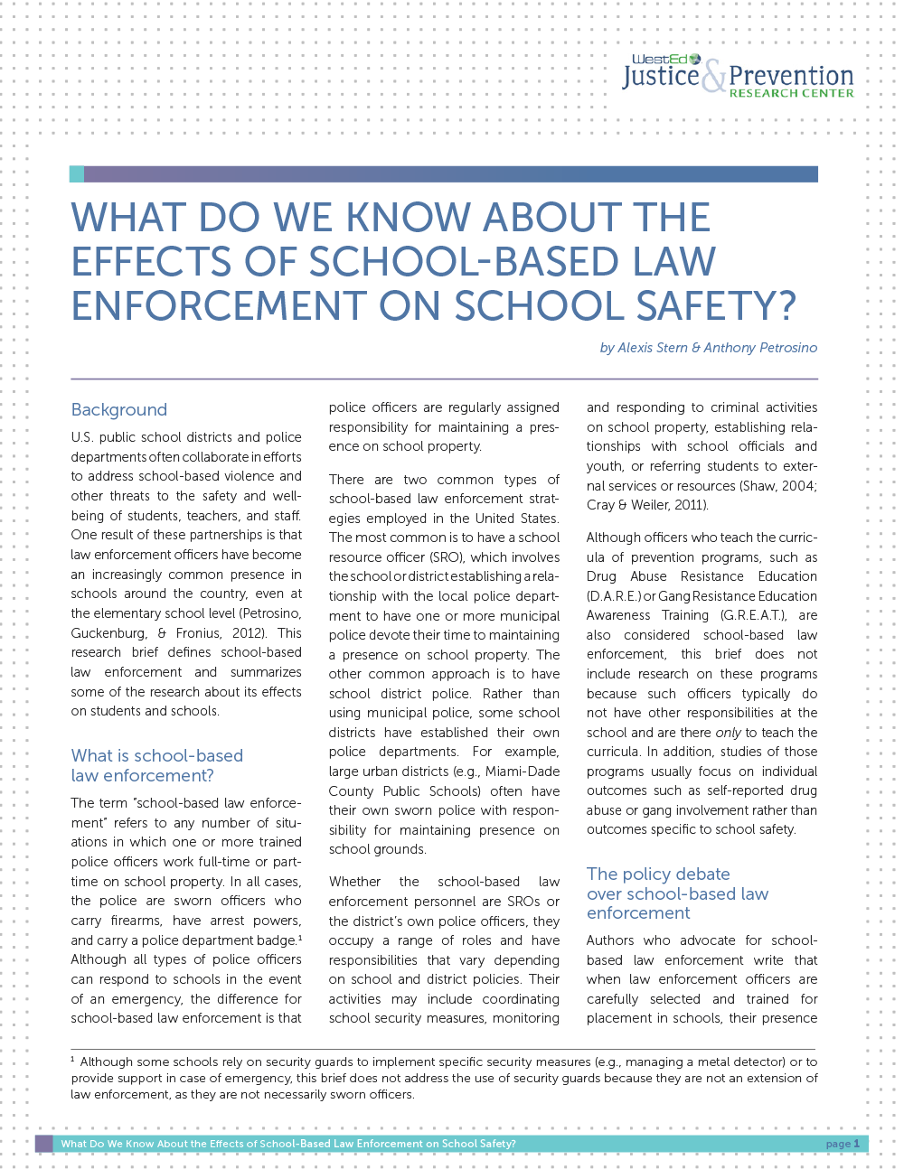 school saftety security research paper