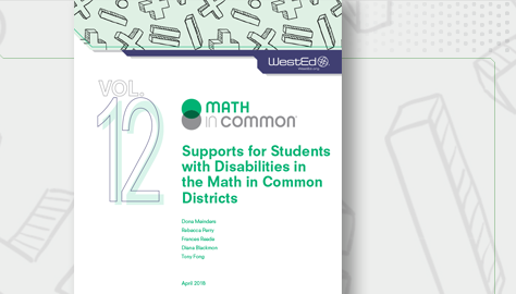 Math in Common supports for students with disabilities