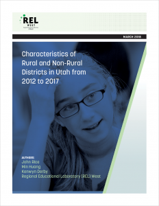Characteristics of Rural and Non-Rural Districts in Utah from 2012 to 2017