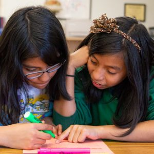 Middle School Students working together