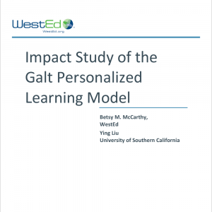 Impact Study of the Galt Personalized Learning Model