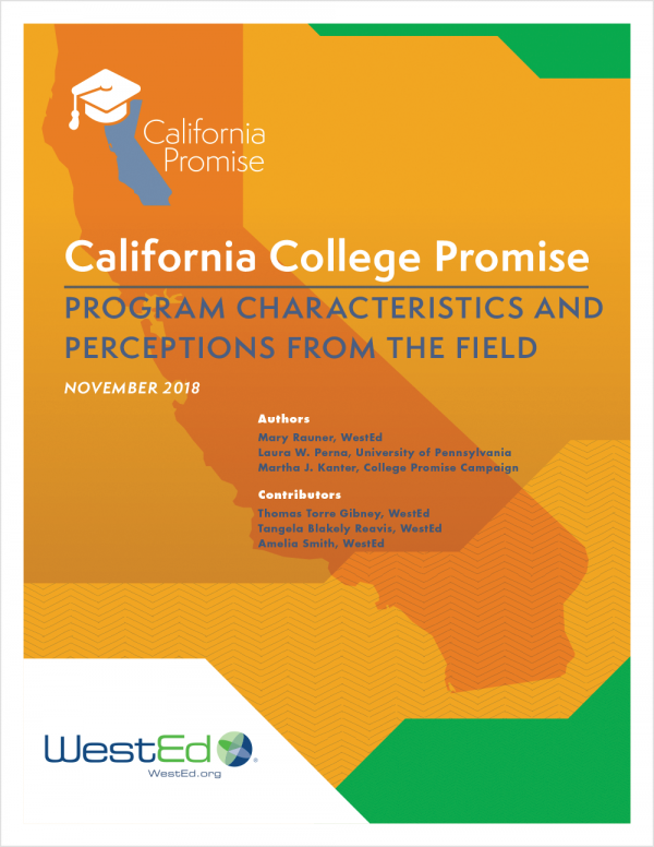 California College Promise: Program Characteristics and Perceptions from the Field