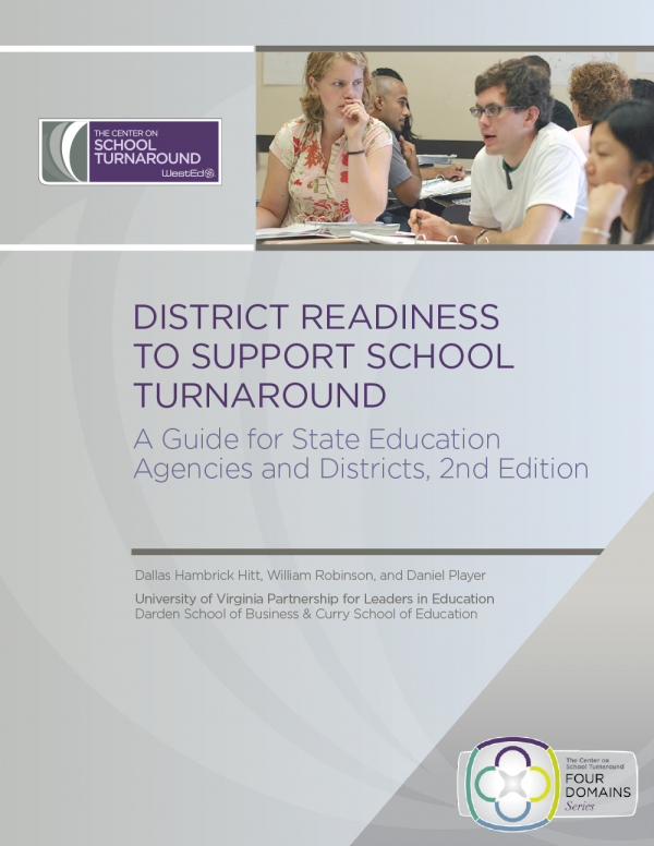 District Readiness to Support School Turnaround: A Guide for State Education Agencies and Districts, 2nd Edition