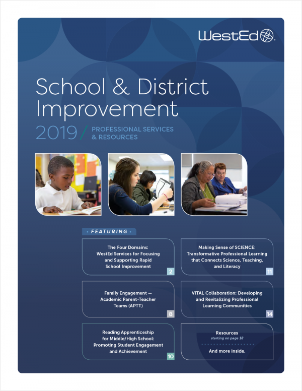 2019 School & District Improvement Professional Services and Resources Catalog