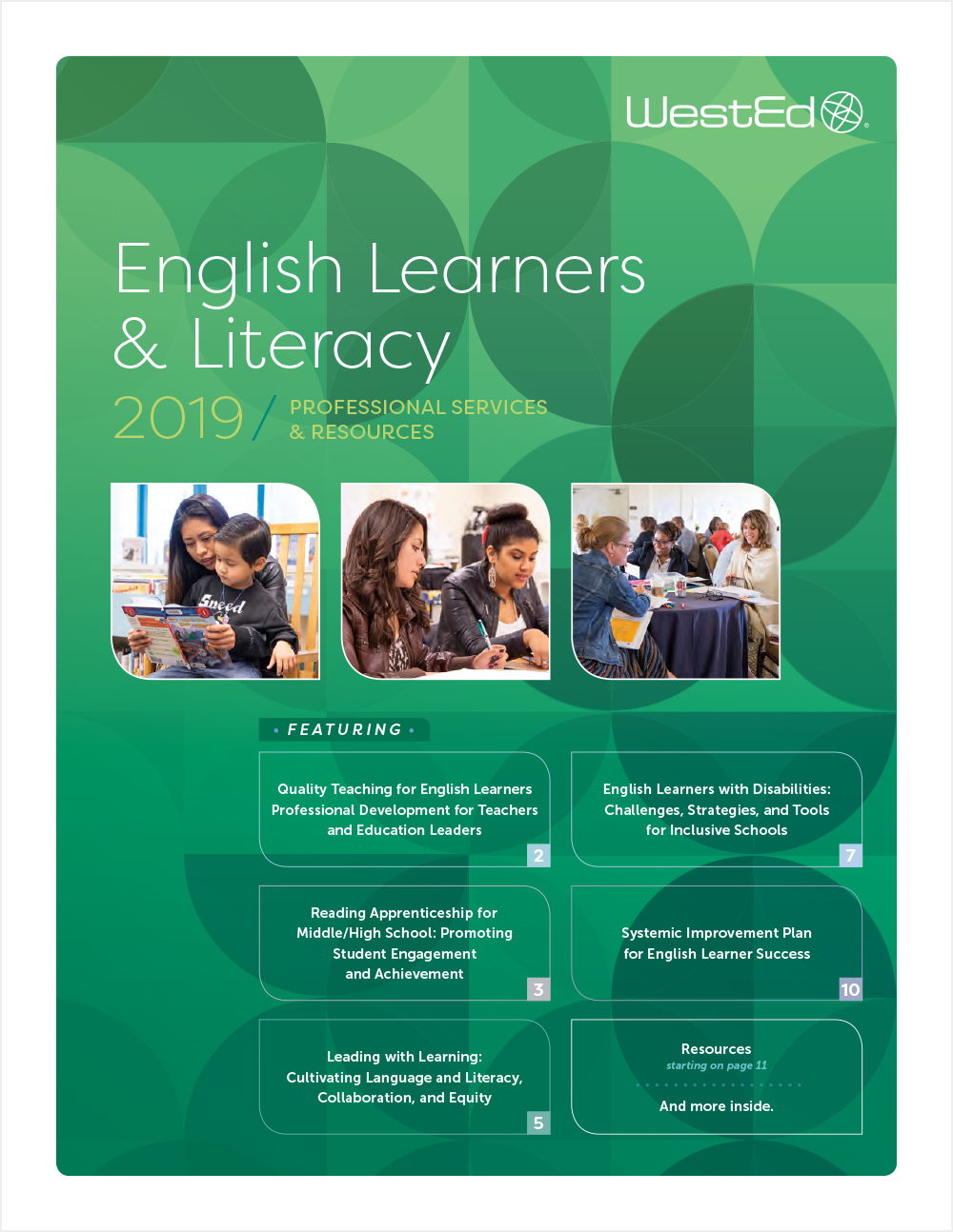 2019 English Learners & Literacy Professional Services and Resources Catalog