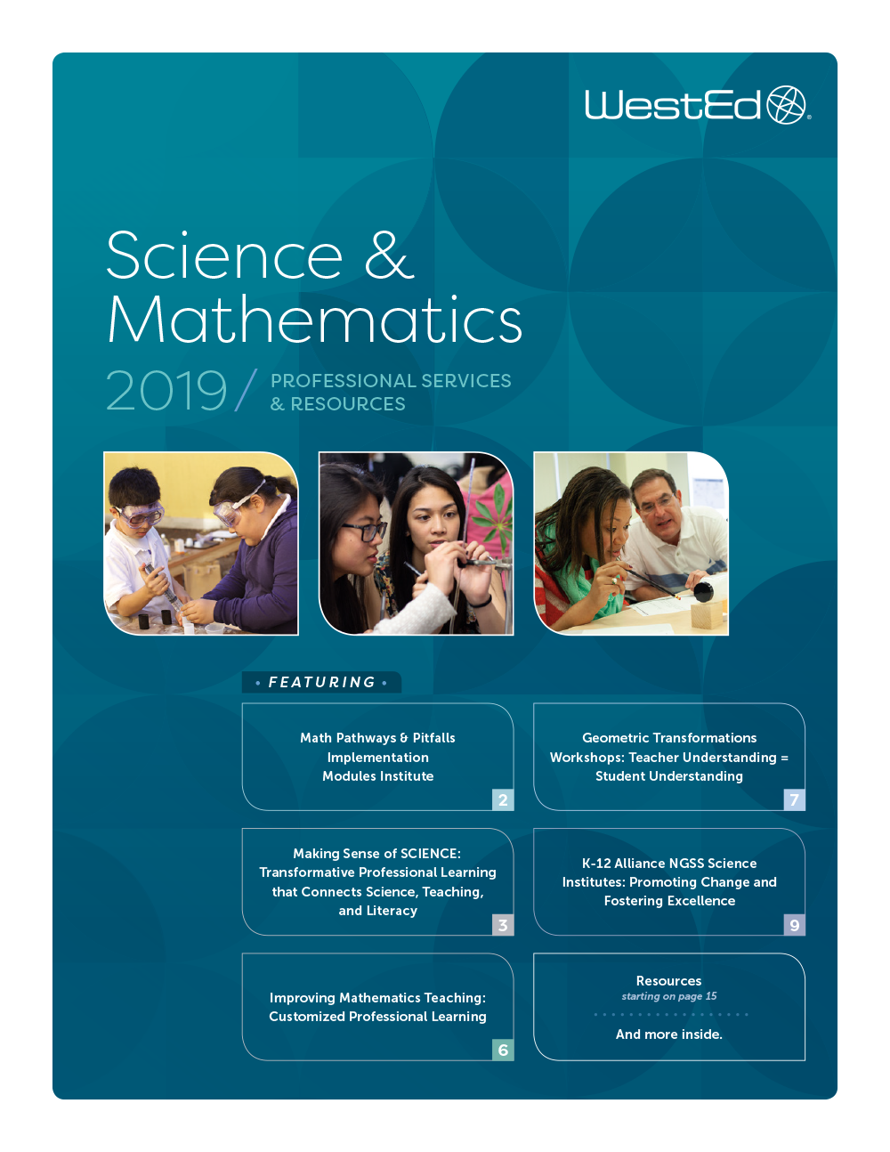 2019 WestEd Catalog for Science and Mathematics Professional Services and Resources