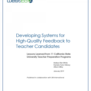 Developing Systems for High-Quality Feedback to Teacher Candidates